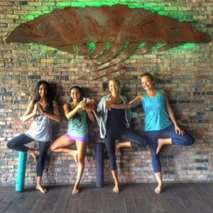 Beer Yoga at Twisted Trunk Brewery in Palm Beach Gardens Florida