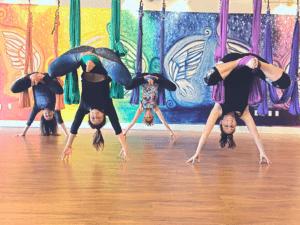Aerial Yoga at CircuSoul in Sarasota Florida