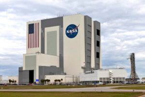 Photo of the Vehicle Assembly Building in Merritt Island Florida