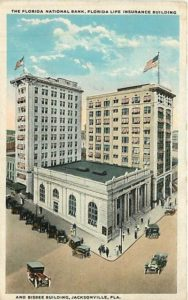 Photo of Florida Life Building in Jacksonville, part of the Laura Street Trio