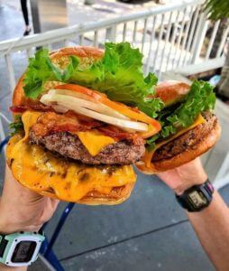 Photo of burger from The Burger Place in Melbourne Florida