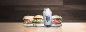 Photo of burgers and a milkshake at The Tin Cow in Pensacola Florida
