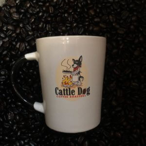 Photo of mug at Cattle Dog Coffee Roasters in Hernando Florida