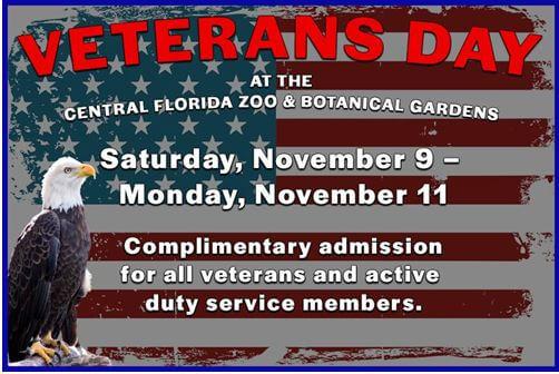 Veteran's Day Central Florida Zoo