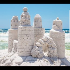 Photo of sand castle with Beach Sand Sculptures