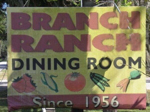 Foto del cartel del comedor Branch Ranch en Plant City