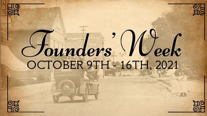 Advertisement for Founders Week Brooksville