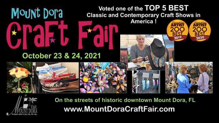 Advertisement for the Mount Dora Craft Fair