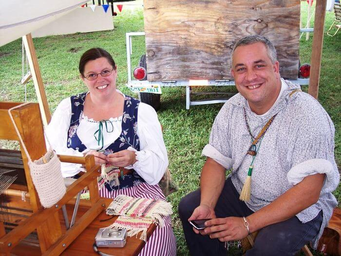 Photo of a couple at the Pioneer Days Festival